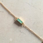 Chrysoprase Bar Bracelet in Gold