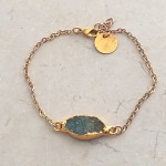 Aquamarine marquise bracelet in gold
