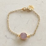 Round Rose Quartz Bracelet in Gold