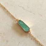 Large Chrysoprase Bracelet in Gold
