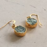 Small Round Aquamarine Earrings