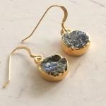 Small Round Labradorite Earrings