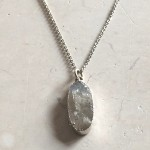 Large Oval Moonstone Pendant