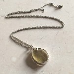 Large Round Lemon Quartz Pendant