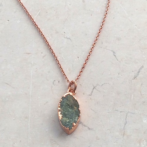 Aquamarine marquise pendant in rose gold