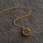 Small Amethyst Stalactite Pendant in Gold