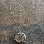 Large  Amethyst Stalactite Pendant in Silver