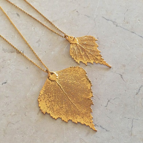 Gold Birch Pendant