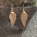Rose Gold Angelwing Druzy Earrings
