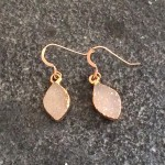 Small Rose Gold Marquise Druzy Earring