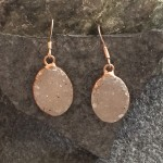 Small Rose Gold Oval Druzy Earring