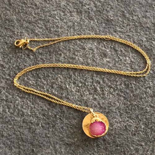 Small Round Gold Helios Pendant