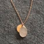 Large Rose Gold Oval Druzy Pendant