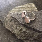Neutral tone Double Druzy Ring in Silver