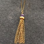 Helios Amethyst Tassel Necklace
