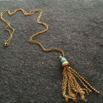 Helios Amazonite Tassel Necklace