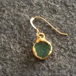 Small Gold Round Helios Earring