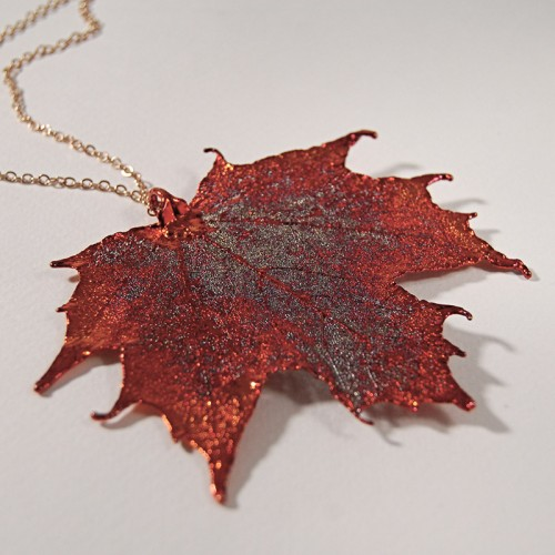 Autumn Rainbow Canadian Maple Pendant