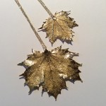 Gold Canadian Maple Pendant