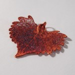 Autumn Rainbow Cottonwood Leaf Pendant