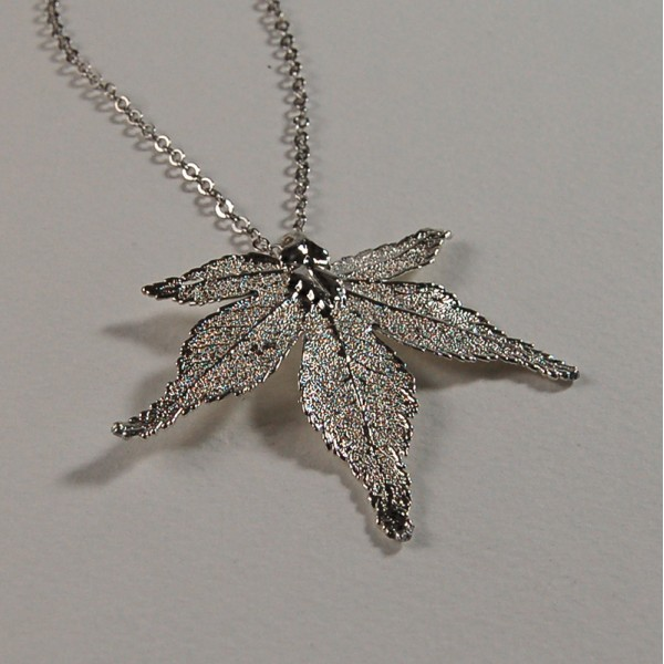Silver japanese maple pendant aloadofball Image collections