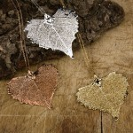 Gold Cottonwood Leaf Pendant